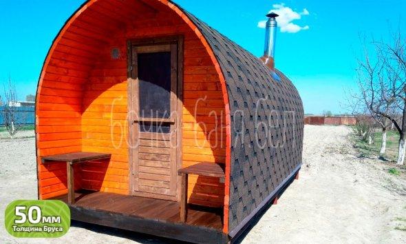 Арочная баня 5 метров